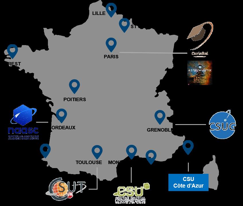 Carte des CSU CSE 2020